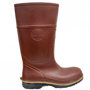 Steel Toe Cap Wellington Boots ( Brown) | Size 12 |Respirex