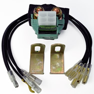 Universal Starter Relay Solenoid Switch With Multiple Connectors ( UTV ATV Motorcycle Watercraft )