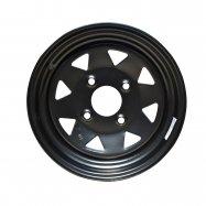 Steel Rim | Black | 12x7 | 4/137 PCD | 4+3