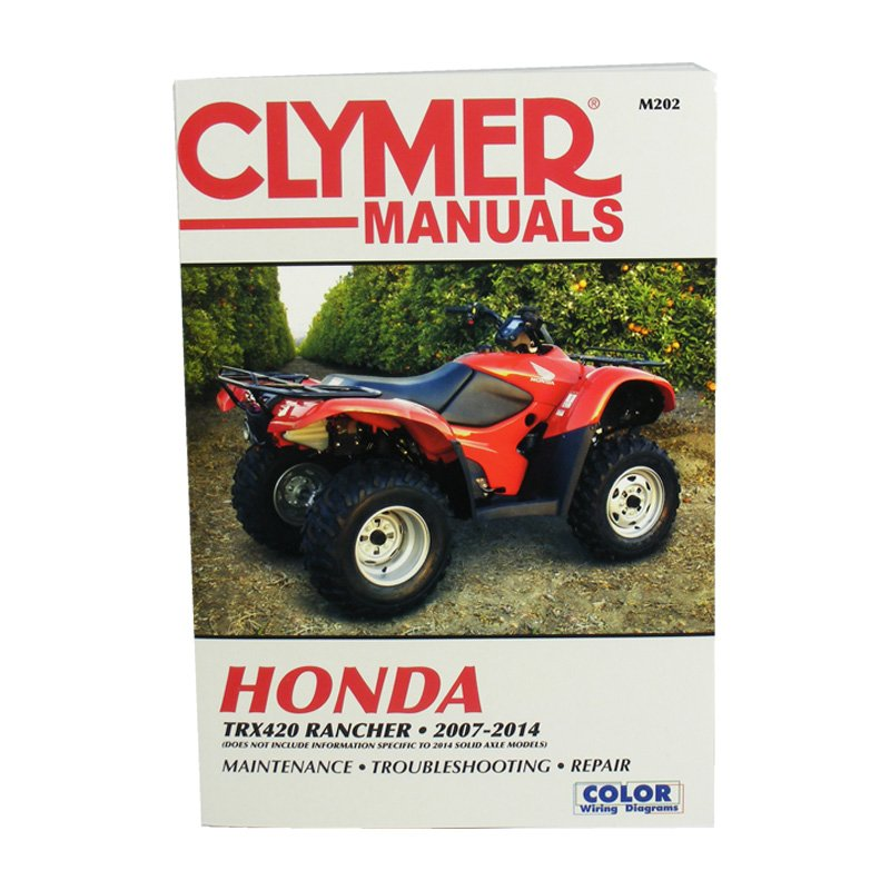 Repair Manual Clymer Shop Honda Rancher 350 2000-2006