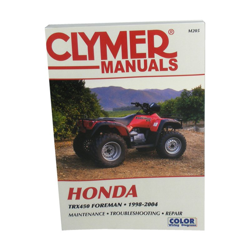 Toyota Dealer Quad Cities: Clymer Workshop Manual - Honda TRX 450 1998 - 2004