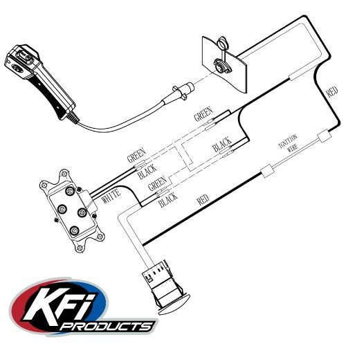 Kfi Dash Rocker Switch Kit Moto Electrical